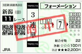 新潟記念3連単・3連複ゲットで大幅プラス!