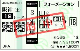 ウインミーティアが3着で三連単 17 → 10 → 16 327,300円ゲット!