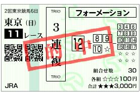 NHKマイルはご存知の通り、フラムドグロワールで3連複ゲット!しました。